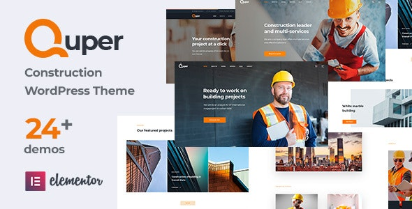 Quper 1.5 - Construction and Architecture WordPress Theme