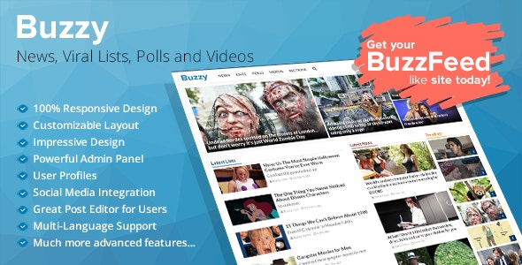 Buzzy 4.0.1 Nulled - News, Viral Lists, Polls and Videos