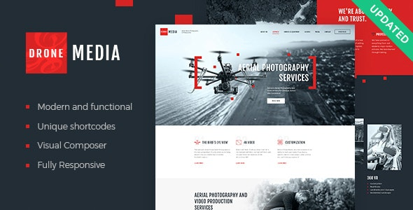 Drone Media 1.5.0 - Aerial Photography & Videography WordPress Theme