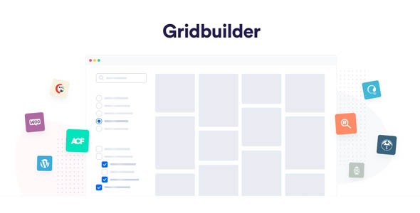 Gridbuilder 1.5.6 + Addons - Advanced Filterable & Faceted Grids WordPress