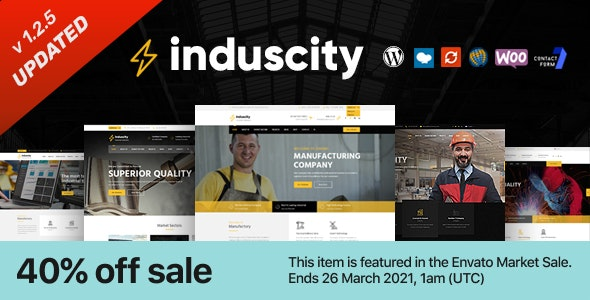 Induscity 1.2.5 - Factory and Manufacturing WordPress Theme