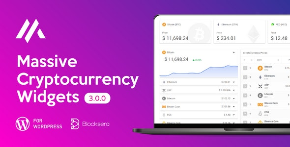 Massive Cryptocurrency Widgets - Crypto Plugin 3.1.9 Nulled