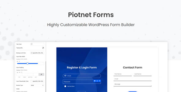 Piotnet Forms Pro 1.0.90 – Highly Customizable WordPress Form Builder