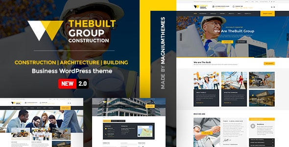 TheBuilt 2.3.2 Nulled - Construction and Architecture WordPress theme