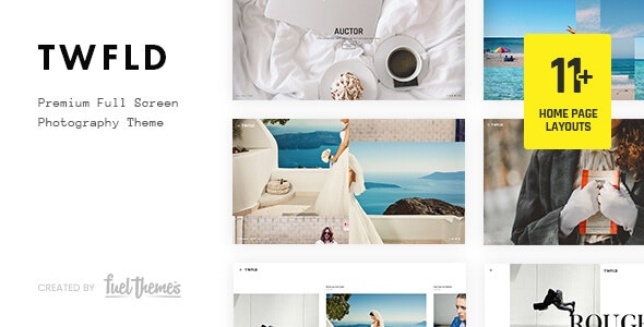 TwoFold 3.7.0 Nulled - Fullscreen Photography WordPress Theme