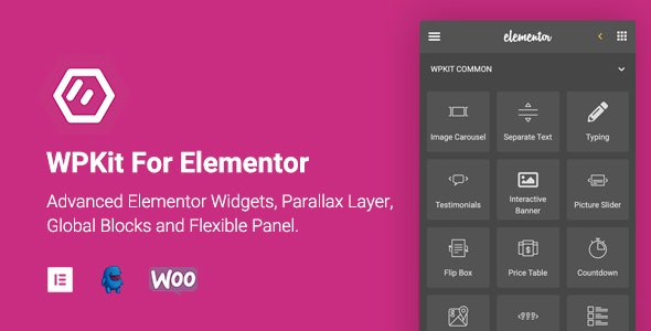WPKit For Elementor 1.0.9 - Widgets Collection & Parallax Layer