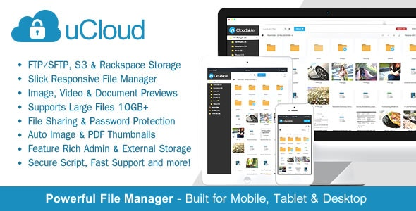uCloud 2.0.2 - File Hosting Script - Securely Manage, Preview & Share Your Files