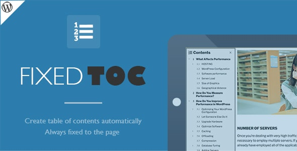 Fixed TOC 3.1.22 - table of contents for WordPress plugin