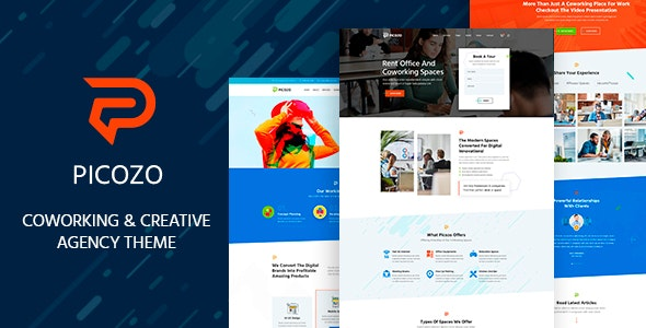 Picozo 1.5 - Coworking and Office Space WordPress Theme
