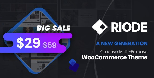 Riode 1.2.2 Nulled - Multi-Purpose WooCommerce Theme