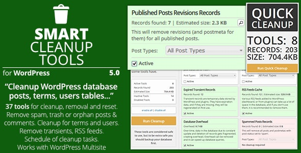 Smart Cleanup Tools 5.0 - Plugin for WordPress
