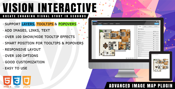 Vision Interactive 1.4.4 - Image Map Builder for WordPress
