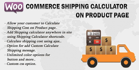 Woocommerce Shipping Calculator On Product Page 2.5