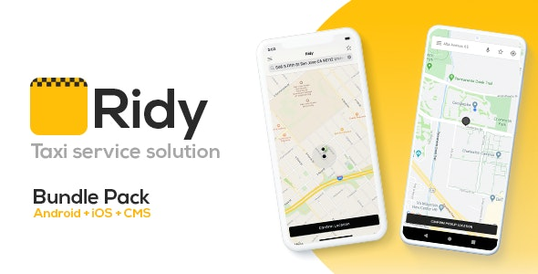 Ridy 3.5.0 - Taxi Application Android & iOS + Dashboard