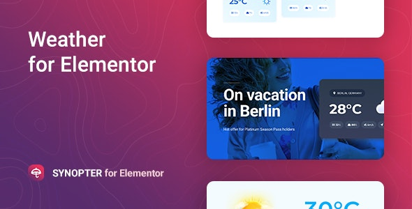 Synopter 1.0.1 - Weather for Elementor