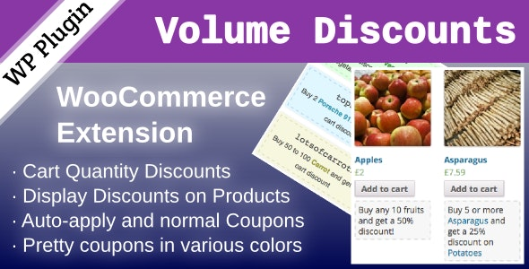 WooCommerce Volume Discount Coupons 1.7.0